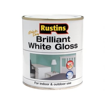 Rustins Gloss Paint Water Based White 250ml