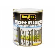 Rustins Matt Black Paint Quick Drying 500ml