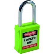 Safety Lockout Padlocks - Green (6 pack)