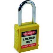 Safety Lockout Padlocks - Yellow (6 pack)