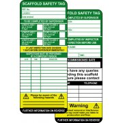 Scaffold Tag Inserts (Pack of 50)