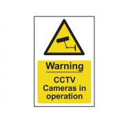 Scan Warning CCTV Cameras In Operation - PVC 200 x 300mm