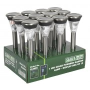 Sealey 1 LED Solar Powered Garden Lamp Display Box of 12 Model No-GL58DB