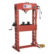 Sealey Air/Hydraulic Press 50tonne Floor Type with Foot Pedal Model No-YK509FAH