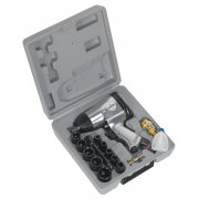 "Sealey Air Impact Wrench Kit with Sockets 1/2""Sq Drive Model No-SA2/TS"