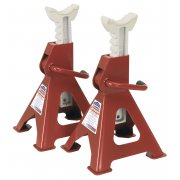 Sealey Axle Stands 3tonne Capacity per Stand 6tonne per Pair Ratchet Type Model No-VS2003