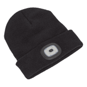 Sealey Beanie Hat 4 SMD LED USB Rechargeable Model No.-LED185