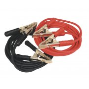 Sealey Booster Cables Extra Heavy-Duty Clamps 25mm x 5mtr Copper 650Amp Model No-SBC/25/5/EHD