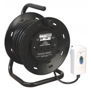 Sealey Cable Reel 25mtr with RCD Plug 2 x 230V Model No-BCR25RCD