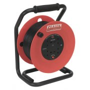 Sealey Cable Reel 50mtr 4 x 230V 1.5mm Heavy-Duty Thermal Trip Model No-CR50/1.5