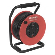 Sealey Cable Reel 50mtr 4 x 230V 2.5mm Heavy-Duty Thermal Trip Model No-CR25025