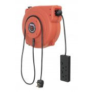 Sealey Cable Reel System Retractable 10mtr 2 x 230V Socket Model No-CRM10