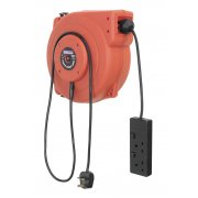 Sealey Cable Reel System Retractable 15mtr 2 x 230V Socket Model No-CRM15