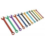 Sealey Combination Spanner Set 12pc Multi-Coloured Metric Model No-19729