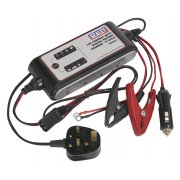 Sealey Compact Auto Digital Battery Charger - 9-Cycle 12V Model No-SMC02