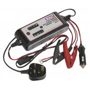 Sealey Compact Auto Digital Battery Charger - 9-Cycle 6/12V Model No-SMC03