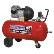 Sealey Compressor 100ltr V-Twin Direct Drive 3hp Model No-SAC10030
