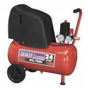 Sealey Compressor 24ltr Belt Drive 1.5hp Oil Free Model No-SAC02415