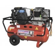 Sealey Compressor 50ltr Belt Drive Petrol Engine 4hp Model No-SA5040