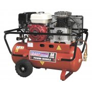 Sealey Compressor 50ltr Belt Drive Petrol Engine 5.5hp Model No-SA5055