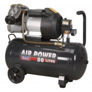 Sealey Compressor 50ltr V-Twin Direct Drive 3hp Model No-SAC5030VE