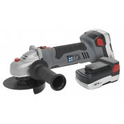 Sealey Cordless Lithium-ion Angle Grinder 115mm 18V 1hr Charge - 2 Batteries Model No-CP5418V