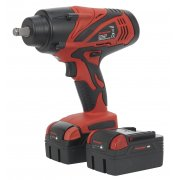 "Sealey Cordless Lithium-ion Impact Wrench 18V 3Ah 1/2""Sq Drive 650Nm - 2 Batteries Model No-CP3005"