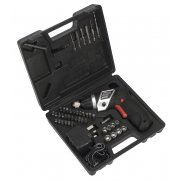 Sealey Cordless Lithium-ion Screwdriver Set 46pc 3.6V Model No-CP36S