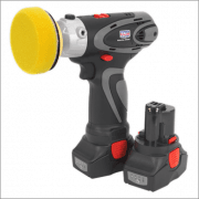 Sealey Cordless Polisher/Sander 75mm 14.4V 2Ah Lithium-ion - 2 Batteries 40min Charger Model No-CP6005