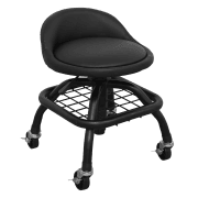 Creeper Stool Pneumatic with Adjustable Height Swivel Seat & Back Rest Model No-SCR02B