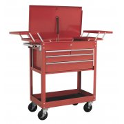 Sealey Extra Heavy-Duty Trolley 2-Level with 4 Drawers & Cantilever Trays Model No-AP930M