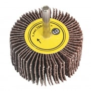 Flap Wheel Ø60 x 30mm 60Grit 6mm Shaft : Model No.FW603060