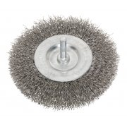 Sealey Flat Wire Brush Stainless Steel 100mm with 6mm Shaft Model No-20446