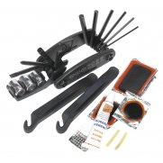 Sealey Folding Multi-Tool & Puncture Repair Kit - Bicycle Model No-BC210