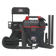 Sealey Garage Vacuum 1500W with Remote Control - Wall Mounting Model No-GV180WM