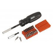 Sealey Gearless Ratchet Screwdriver Set 34pc Model No-AK6498