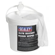 Sealey Hand Wipes Bucket 3ltr Pack of 150 Model No-SCW3