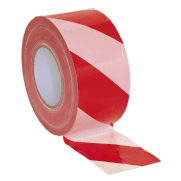 Hazard Warning Barrier Tape 80mm x 100mtr Red/White Non-Adhesive : Model No.BTRW