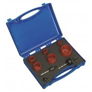 Sealey Hole-Saw Kit Plumber's 9pc Model No-HKP9