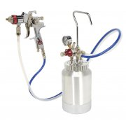Sealey HVLP Pressure Pot System with Spray Gun & Hoses 1.7mm Set-Up Model No-HVLP-79/P
