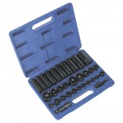 "Sealey Impact Socket Set 32pc Standard/Deep 3/8"" & 1/2""Sq Drive Metric/Imperial Model No-AK681"
