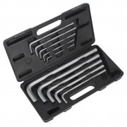 Sealey Jumbo Hex Key Set 10pc Extra-Long Metric Model No-AK6143