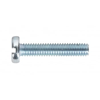 Sealey Machine Screw M4 x 20mm Pan Head Slot Zinc DIN 85 Pack of 50 : Model No.MSS420
