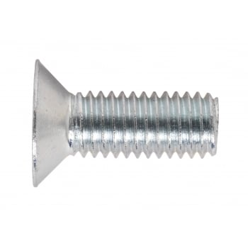 Sealey Machine Screw M8 x 20mm Countersunk Pozi Zinc DIN 965Z Pack of 50 : Model No.MSC820