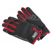 Sealey Mechanic's Gloves Light Palm Tactouch - Large Model No-MG798L