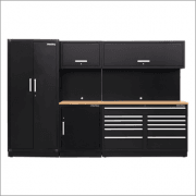 Sealey Modular Storage System Combo - Oak Worktop Model No-APMSCOMBO2W
