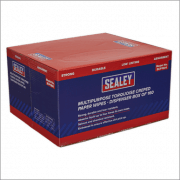 Sealey Multipurpose Paper Wipes in Dispenser Box - Creped Turquoise 69gsm 160 Sheets Model No-SCP1601