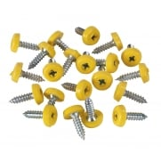 Number Plate Screw Plastic Enclosed Head Ø4.8 x 18mm Yellow Pack of 50 : Model No.PTNP2