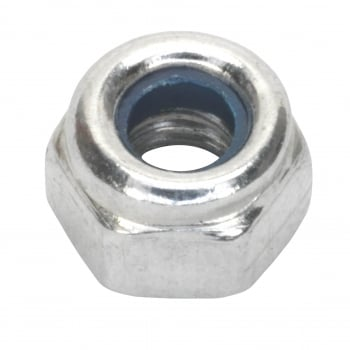 Sealey Nylon Lock Nut M4 Zinc DIN 982 Pack of 100 : Model No.NLN4