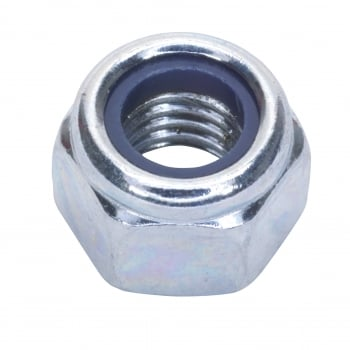 Sealey Nylon Lock Nut M8 Zinc DIN 982 Pack of 100 : Model No.NLN8